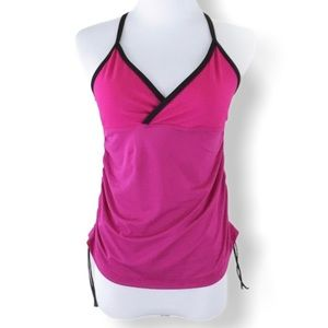 Lululemon sequence tank magenta and black size 4